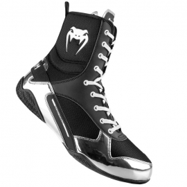 Chaussures de boxe Venum Elite - Noir/Argent