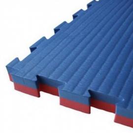 Puzzel mat 100 x 100 x 2,5 cm Rood/Blauw