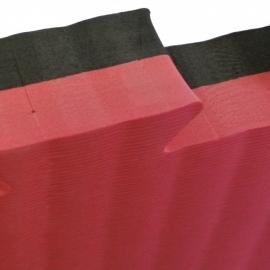 Puzzel mat 100 x 100 x 4 cm Zwart/rood