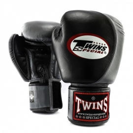 TWINS SPECIAL BOXING GLOVES BLACK AND GRAY