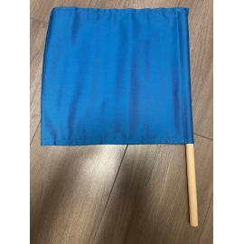 Referee flags with wooden handle