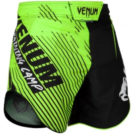 Fightshort court Venum Training Camp 2.0 - Noir/Jaune Fluo
